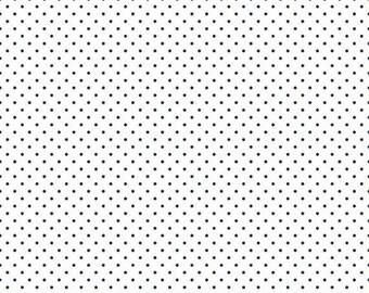20% OFF Riley Blake Basic Navy Swiss Dots on White