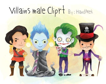 Villains male clipart Instant Download PNG file - 300 dpi