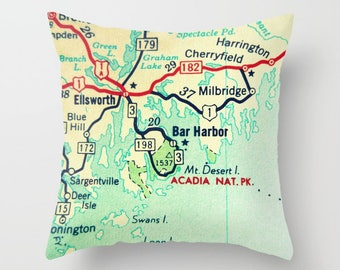 National Park Map Pillow Cover,  RV Gifts,  Outdoors Gift,  National Park Gifts, Travel Gift, Wanderlust Gift, Dad Gift  Vintage Camper
