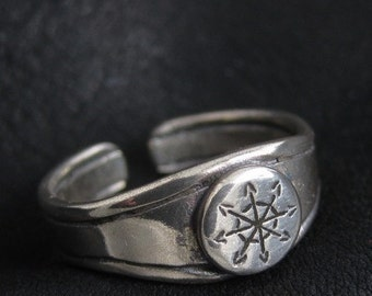 Silver Chaos Star ring