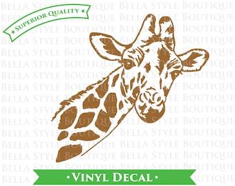 Giraffe Face VINYL DECAL