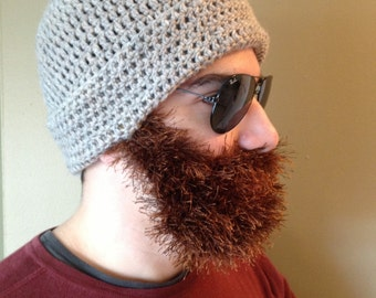 Handmade Crochet Beard Only, dettached beard, fuzzy Beard with a mustache, choose any color you like.