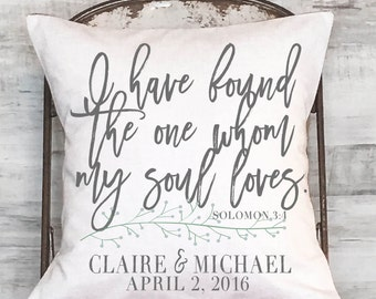Pillow Cotton Anniversary Gift Wedding Gift Personalized Gift Found the One Pillow Cover