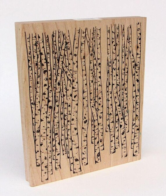 Birch Forest this stamp is great for polymer clay and other crafts, offers a great organic look. Also a wonderful stand of birch trees