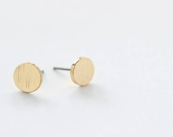 Circle Earring Studs Gold Plated