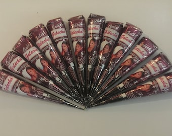 FREE SHIPPING from US! Natural Herbal Henna Cones Temporary Tattoo Body Art Mehandi Ink 25 gm You Choose Quantity G