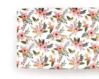 Changing Pad Cover Coral Sprigs and Blooms. Change Pad. Changing Pad. Coral Floral Changing Pad Cover.