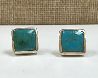 Vintage Sterling Silver And Turquoise Earring !!!