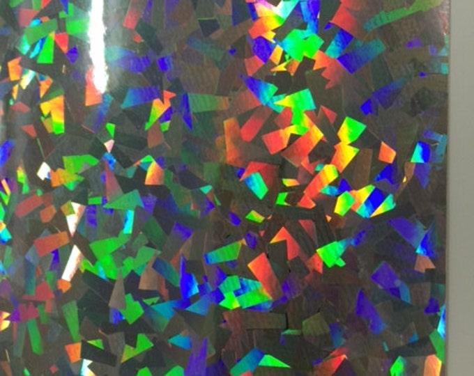 "12""x 24"" NEW / Fantasy Crystal Silver Adhesive Back Vinyl"