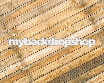2ft x 2ft Rustic Wood Floordrop for Pictures or Diagonal Wood Plank Backdrop for Product Photos  - Item 233