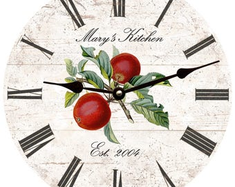 Personalized Apple Kitchen Clock