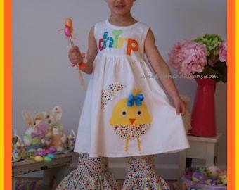 Easter Dress Toddler Girl, Easter Chick Dress for Little Girls, Easter Outfit Girls, Sassy Easter Chick Outfit, Girls Easter Dress