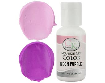 Neon Purple CK Gel Paste Food Coloring - high quality food coloring for icing, frosting, cookie dough and more