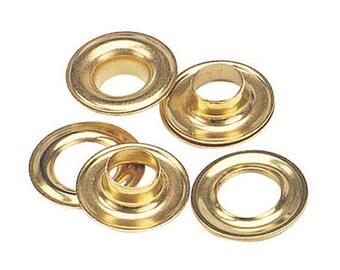 144 Qty-osborne-no. G3-2 Brass Self Piercing Grommets & Plain Washers (13068)