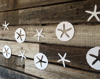 Sand Dollar Garland - Mermaid Party Garland, Under the Sea, Baby Shower, Birthday Party, Beach Party