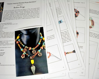 """Tutorial for the """"Tibetan Inspired Beaded Rope Necklace"""""""