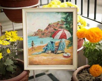 Beach Time - Oil Painting on Canvas