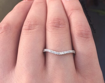 14K White Gold, Yellow Gold, Rose Gold Diamond Band