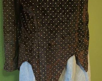 Vintage Via Di Ronnetta black beaded blouse.