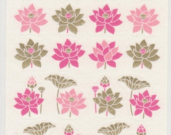 Lotus Flowers  - Paper Stickers - Reference M4334-35H6034-36A6257-58