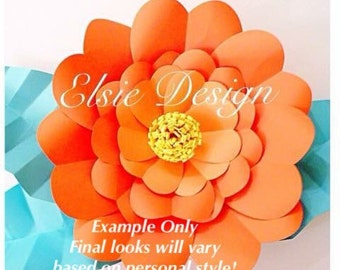 Large Backdrop DIY Paper flower SVG files - SVG paper flowers - Easy Paper flowers- paper flower templates