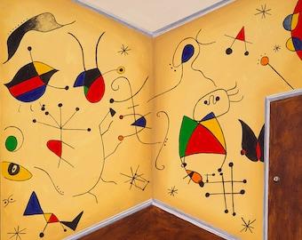 Miro Miro on the Wall // Joan Miro pun art print
