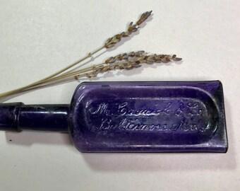Vintage Dark Purple Bottle- McCormick & Co. Baltimore, MD- Antique Amethyst Bottle- Baltimore Bottle- Cursive Writing- D18