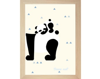 Silent night, the Paola panda poster