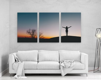 Feel Free Silhouette - panels art canvas print wall home decor interior design