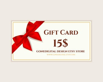 Last Minute Gift Idea Christmas Gift Card For my shop Christmas Gift Certificate Gift Voucher Printable Gift Certificate Printable Gift Card
