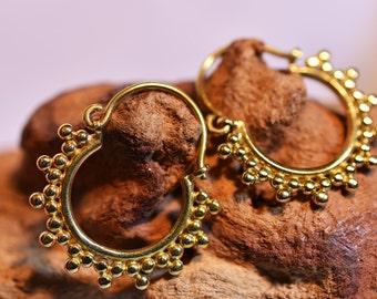 """Brass Earrings """"Dots Small"""""""
