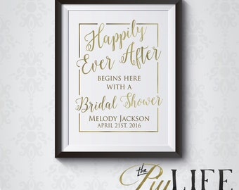 Once upon A Time Bridal Shower Welcome Sign Printable DIY No. I275