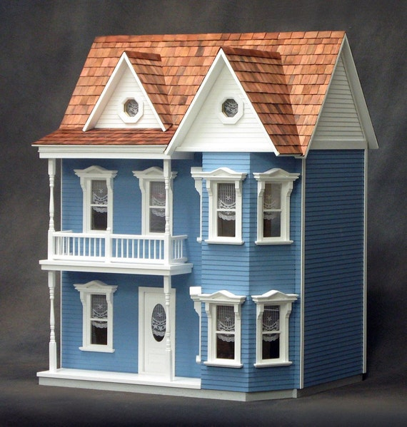 Scale One Inch, Princess Charlotte Wooden Dollhouse Kit, 1:12 Scale