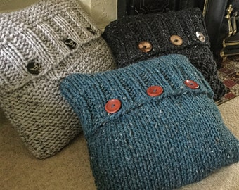 PATTERN Big 3 cushion covers - envelope opening - superchunky/superbulky yarn - easy to intermediate