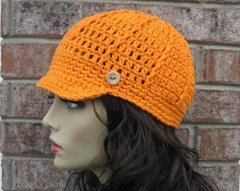Crochet Knit Newsboy Beanie Hat, Driver Cap Hat, Visor Hat, Fashion Hat, Jockey Hat, CHEMO Hat, All seasons Hat, Visor Brim Hat, Brim Hat