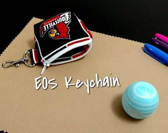 Louisville EOS Lip Balm Keychain