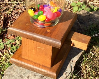 Vintage gum ball dispenser/candy/mason jar/french country/country cottage/jelly beans