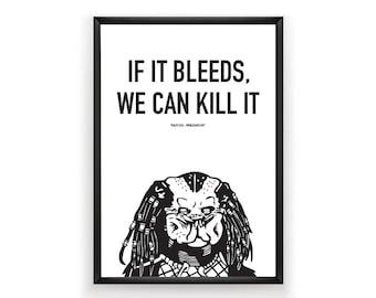 The Predator Printable, Predator Poster, Predator Print, Movie Poster, Movie Art, Instant Download, Digital Download, Black and White