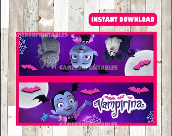 Vampirina bags toppers instant download , Vampirina toppers, Printable Vampirina treat bags toppers