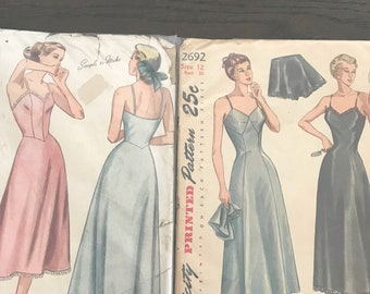Two 1940's ladies slip patterns size 12 & 16
