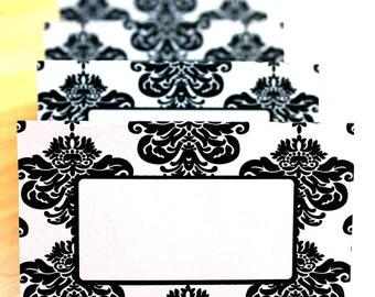 Modern Damask Editable Place Cards Printable