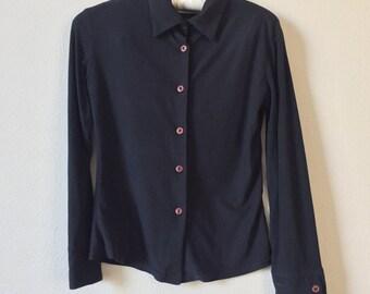 vintage long sleeve collared shirt