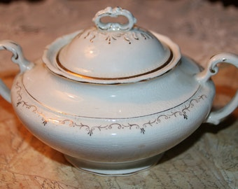 Vintage Sugar Bowl with Lid, W H Grindley & Co Pattern 520 Vintage  Made in England Circa 1914-1925