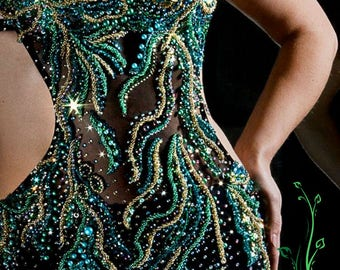 Embroidered evening dress by IOLANNA