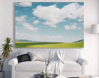 """large canvas wall art, large wall art, large colorful wall art, large art, large art on canvas, photography, canvas art - """"An Ocean of Sky"""""""