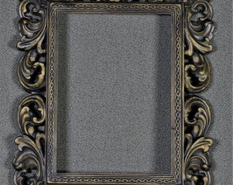 5 x 7 Frame Ornate Plastic with Optional UltraVue® UV70 Glass and Backing
