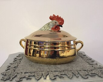 Soup tureen former Rooster - Louis Lourioux
