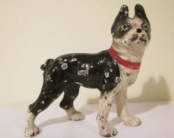 Vintage Hubley  Cast Iron Boston Terrier Paperweight