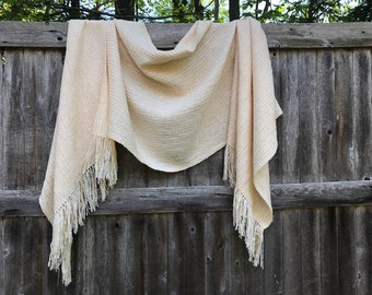 Handwoven Lightweight Shawl/Wrap Inspired By A Sandy Beach