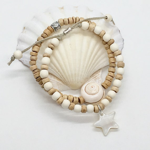 beach boho jewelry, beachcomber natural bohemian bracelets